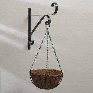Кашпо подвесное, d = 25 см, с кокосовым вкладышем