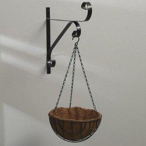 Кашпо подвесное, d = 25 см, с кокосовым вкладышем, «Полусфера»