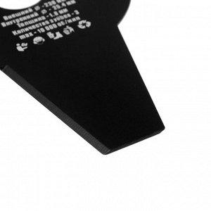 Нож для триммера Rezer ВС-07 General, трехлучевой, 230x25.4x1.8 мм, высокопрочная сталь