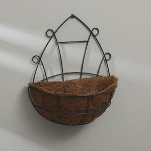 Кашпо настенное, d = 30 см, с кокосовым вкладышем, «Сфера»