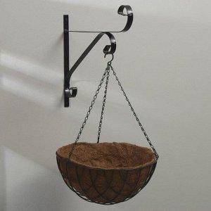 Кашпо подвесное. d = 36 см. с кокосовым вкладышем. «Полусфера»