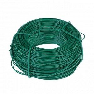 Проволока подвязочная, 100 м, d = 1,2 мм, зелёная, Greengo