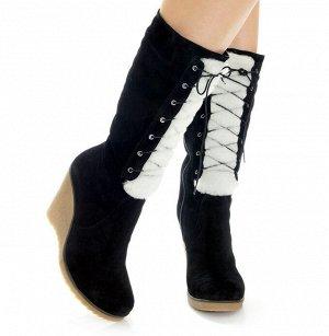 Сапоги Страна производитель: Турция Размер женской обуви x: 36 Полнота обуви: Тип «F» или «Fx» Сезон: Зима Вид обуви: Сапоги Материал верха: Замша Материал подкладки: Натуральный мех Каблук/Подошва: Т
