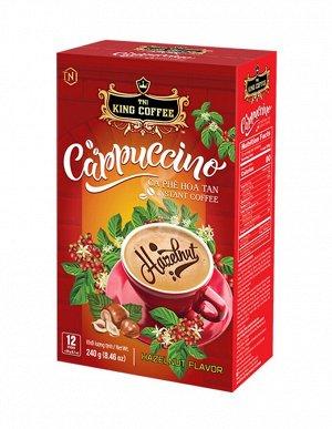 King Coffee Кофе растворимый Cappuccino лесной орех