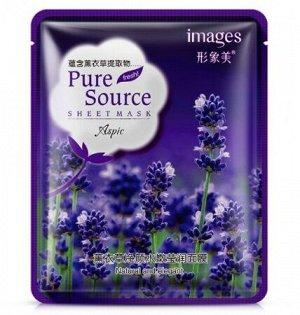 IMAGES Pure Source Маска-салфетка для лица с лавандой (увлажнение, улучшение цвета кожи), 40г