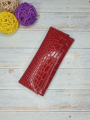 Ключница Ключница. Натуральная Кожа. Цвет красный. 7x15,5 см.