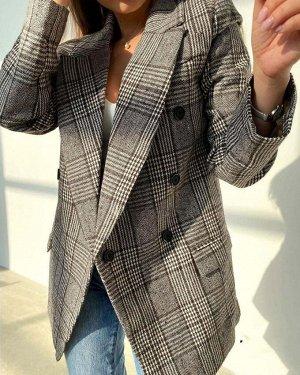 Пиджак Ткань Кашемир Длина 75см На полном подкладе