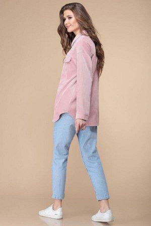 Жакет Жакет Linia-L А-1860 розовый  Состав: ПЭ-83%; Спандекс-5%; Нейлон-12%; Сезон: Весна-Лето Рост: 170  Вельветовый жакет актуальный модный элемент одежды. Его можно носить как с классической рубаш