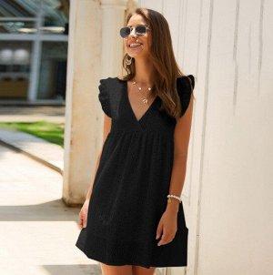 Женский кружевной сарафан, цвет черный