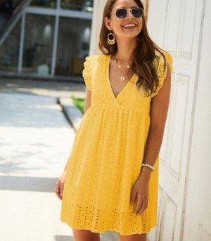Сарафан летний, цвет жёлтый