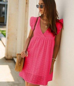 Женский кружевной сарафан, цвет розовый