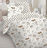 КПБ бязь  Собачки 1,5 спальный с простыней на резинке