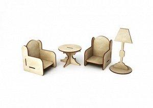 """Заготовка для декорирования """"Два кресла, стол и торшер"""" (ДКМ014  /2700770048575)"""