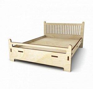 """Заготовка для декорирования """"Кровать для больших кукол"""" 22.5х30х3.5 см (ДКМ003 /2700770048469)"""