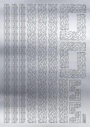 Металлизированные наклейки M07S