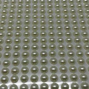 Полубусины клеевые 6 мм, цвет молочный