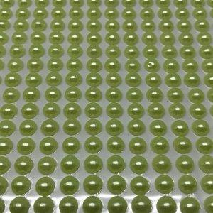 Полубусины клеевые 6 мм, цвет желтый