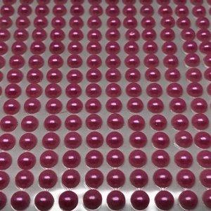 Полубусины клеевые 6 мм, цвет розовый