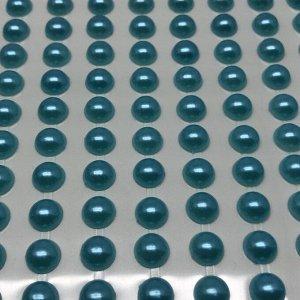 Полубусины клеевые 8 мм, цвет голубой