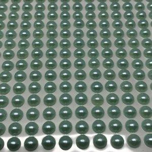 Полубусины клеевые 6 мм, цвет голубой