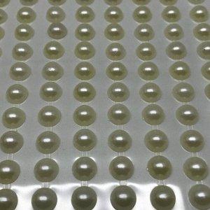 Полубусины клеевые 8 мм, цвет молочный
