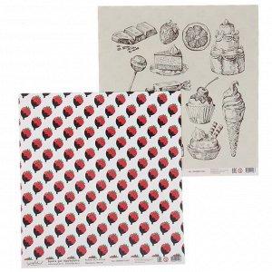 """Бумага для скрапбукинга """"Ванильные и сладкие радости"""" 30.5х30.5 см BCH003 (5 листов)"""