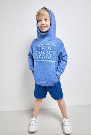 Шорты детские для мальчиков Shark синий принт
