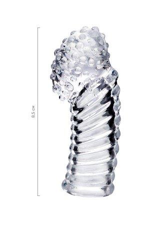 Насадка на палец, тре, прозрачный, 8,5 см