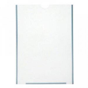 Карман плоский А4, 23*0,2*30 см, с двухсторонним скотчем для крепления ПЭТ 0,7 мм