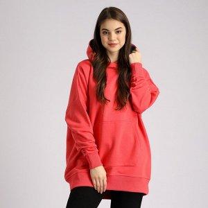 Удлиненная женская куртка, свободного кроя, с капюшоном