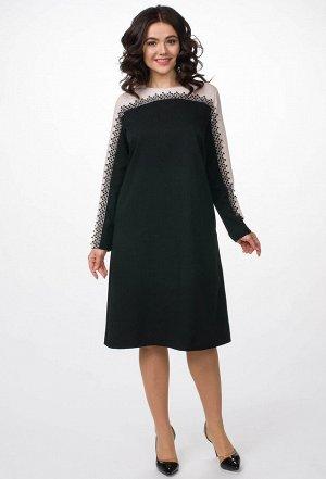Платье Melissena 954 черно-бежевый