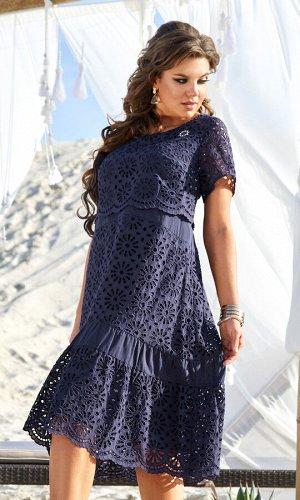Платье Vittoria Queen 12233 темно-синий