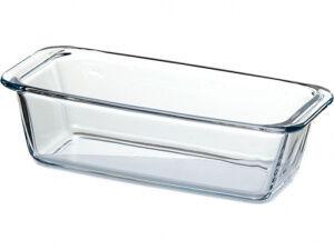 Посуда для СВЧ, 1,12 л, стекло, без крышки, прямоугольная