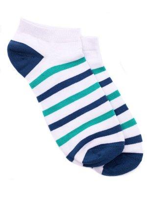 """Короткие носки р.40-45 """"Полосатики"""" Мурена"""
