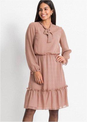 Платье миди с прин