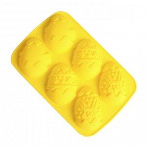 Форма для выпечки и шоколада «Зайцы и цыплята» 6 ячеек