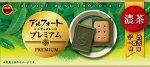"""Премиум печенье с использованием муки из цельнозерновой пшеницы и с молочным шоколадом матча  """"ALFORT PREMIUM MATCHA  """", коробка, 59г"""