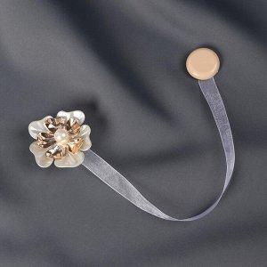 Подхват для штор . «Многолистник». d = 5.5 см. цвет золотистый