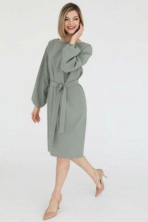 Платье с рукавами на резинке