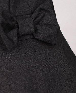 Школьный сарафан с бантом для девочки,серый Цвет: тёмно-серый