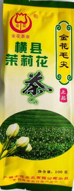 Зеленый чай с натуральными цветками жасмина 100 гр