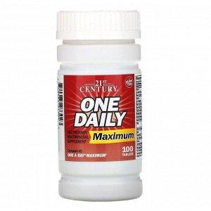 21st Century, One Daily, Maximum, 100 таблеток