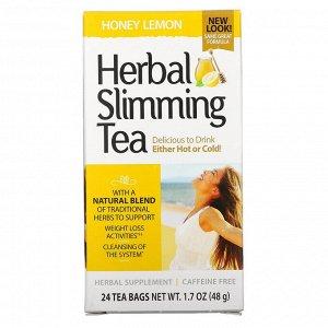 21st Century, травяной чай для похудения, мед с лимоном, без кофеина, 24 чайных пакетика, 48 г (1,7 унции)