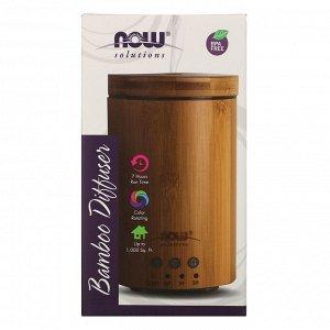 Now Foods, Solutions, ультразвуковой диффузор масла из натурального бамбука, 1 диффузор