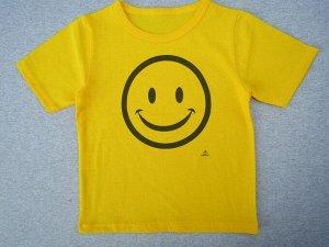 Футболка жёлтая, смайлик (улыбка)