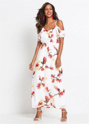 Платье с цветочным