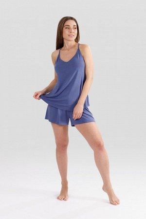Комплект топ/шорты:жен. МОДЕЛЬ 4. Голубой