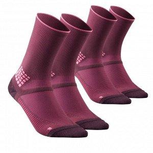 Носки для походов 2 пары бордовые MH500 High