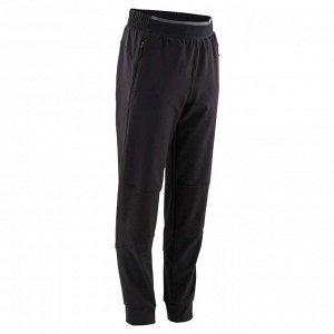 Спортивные брюки 900 GYM легкие для мальчиков черные DOMYOS