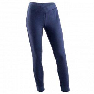 Спортивные брюки с карманами для девочек темно-синие DOMYOS